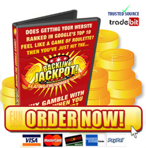 Product picture Backlink Jackpot. Beat The Google Game. Full Videos with Master Resell Rights